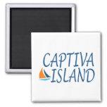 Captiva Island 2 Inch Square Magnet