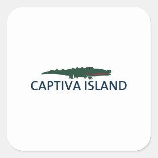 Captiva Island - Alligator. Square Sticker