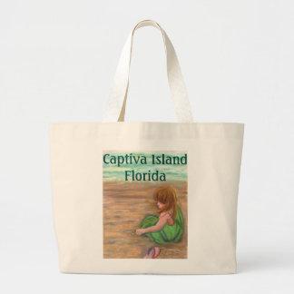 Captiva Island art Large Tote Bag