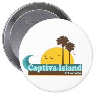 Captiva Island. Pinback Button