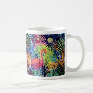 Captiva Island Flamingo Midnight Classic White Coffee Mug