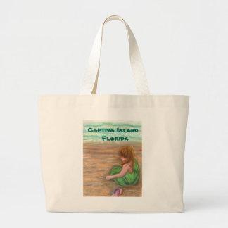 Captiva Island Florida Art Large Tote Bag