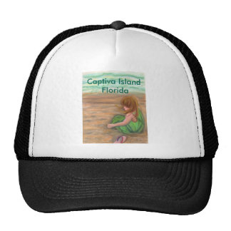 Captiva Island Florida Art Trucker Hat