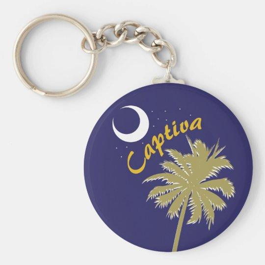 Captiva Island Night Keychain