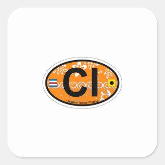Captiva Island - Oval. Square Sticker