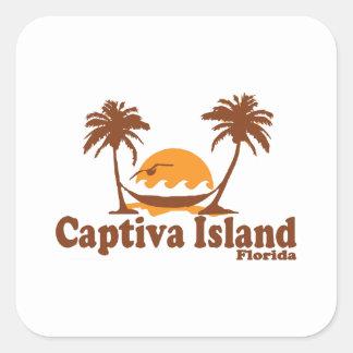 Captiva Island -  Palm Trees.. Square Sticker