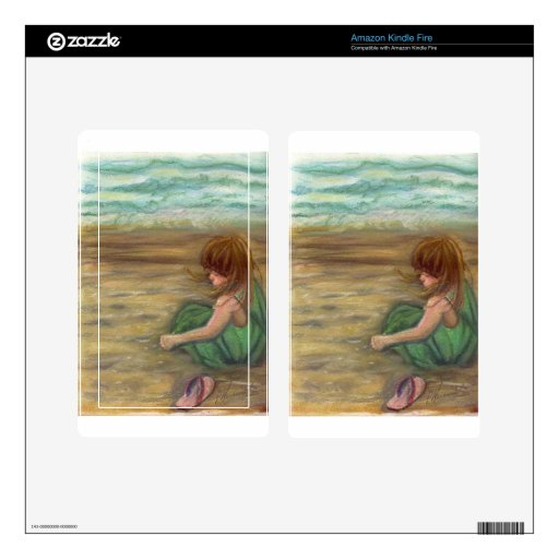 Captiva Princes Pastel Drawing Kindle Fire Decal