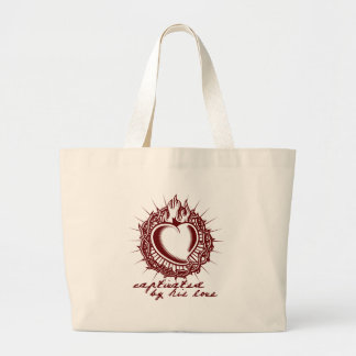 Captivated by his Love Christian Shirt Canvas Bag