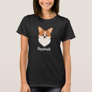 "Captivated Corgi Cartoon ""Squirrel"" T-Shirt"