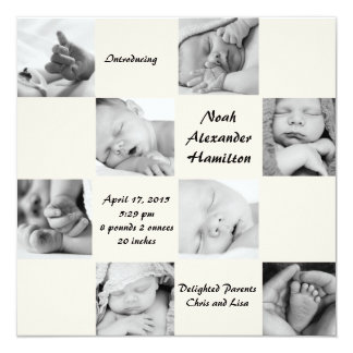 Captivating 8 - Photo Birth Announcement
