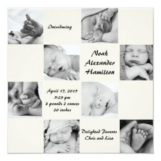 Captivating 8 - Photo Birth Announcement
