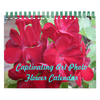 Captivating Art Photo Flower Calendar