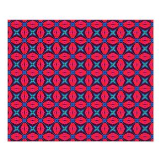 captivating kaleidoscope decorative blue and red photo print