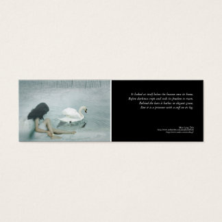 'Captive Angel' poetry bookmark Mini Business Card