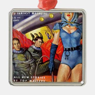 Captive Astronauts Metal Ornament