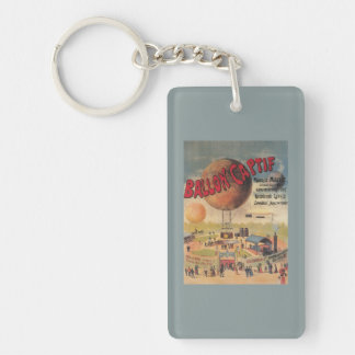 Captive Balloon Rides at a Exposition Poster Keychain