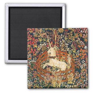 Captive unicorn 2 inch square magnet
