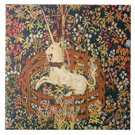 captive unicorn ceramic tile