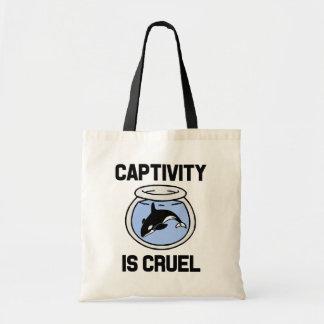 Captivity is Cruel mug, Save the Orca whales bag