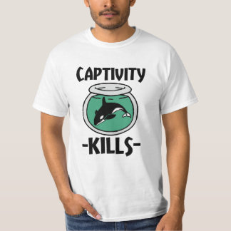 Captivity Kills Free the Orca Whales men's shirt