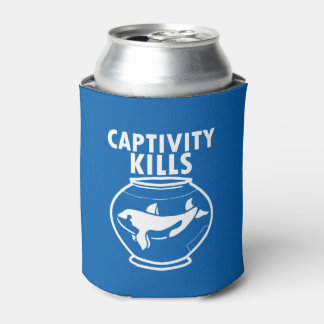 Captivity Kills save the orca whales Can Cooler