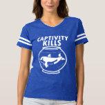Captivity Kills Save the Orcas T-shirt