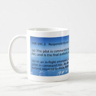 Captmoonbeam Pilot in Command Classic White Coffee Mug