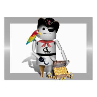 Capt'n Robo-x9 Tarjetas De Visita Grandes