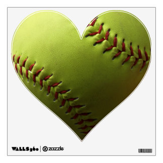 Captura amarilla de la foto del softball vinilo adhesivo