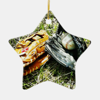 Captura con mi muchacho adorno navideño de cerámica en forma de estrella
