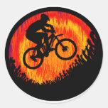 Captura de la bici él pegatina redonda