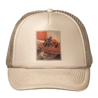 Captura de la sirena de los marineros del vintage gorra