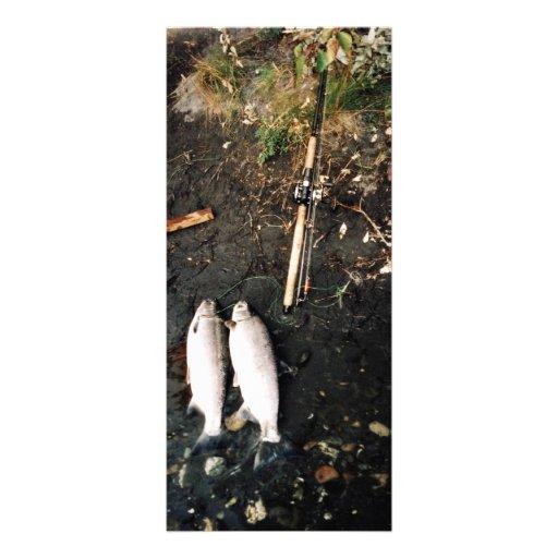 Captura de los salmones de plata o de los salmones tarjetas publicitarias personalizadas