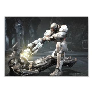 Captura de pantalla: Batman contra Cyborg Invitación 12,7 X 17,8 Cm