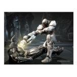 Captura de pantalla: Batman contra Cyborg Postales