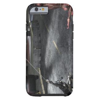 Captura de pantalla Batman contra flash Funda De iPhone 6 Shell
