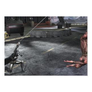 Captura de pantalla: Batman contra flash Invitación 12,7 X 17,8 Cm