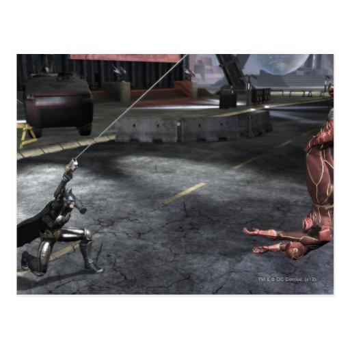 Captura de pantalla: Batman contra flash Postal