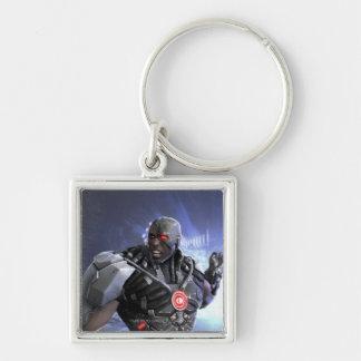 Captura de pantalla: Cyborg 2 Llavero Cuadrado Plateado