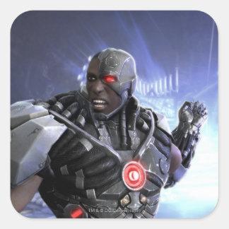 Captura de pantalla: Cyborg 2 Pegatina Cuadrada