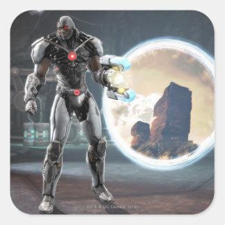 Captura de pantalla: Cyborg 3 Pegatina Cuadrada