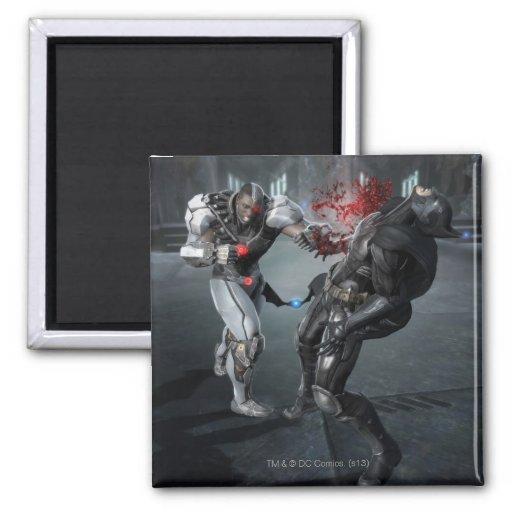 Captura de pantalla: Cyborg contra Batman Imán Para Frigorífico