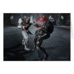 Captura de pantalla: Cyborg contra Batman Tarjeta De Felicitación
