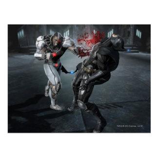 Captura de pantalla: Cyborg contra Batman Postales
