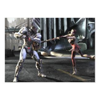 Captura de pantalla: Cyborg contra Harley Invitación 12,7 X 17,8 Cm