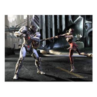 Captura de pantalla: Cyborg contra Harley Postales