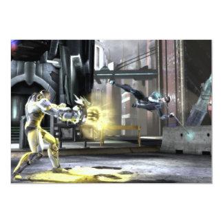 Captura de pantalla: Cyborg contra Nightwing 2 Invitación 12,7 X 17,8 Cm