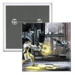 Captura de pantalla: Cyborg contra Nightwing 2 Pin Cuadrado