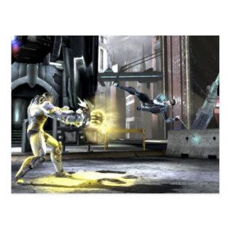 Captura de pantalla: Cyborg contra Nightwing 2 Postal