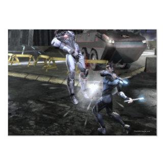 Captura de pantalla: Cyborg contra Nightwing 3 Invitación 12,7 X 17,8 Cm